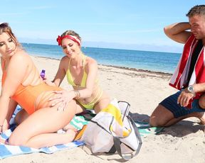 Beach sluts are looking for a way to dissect a dick